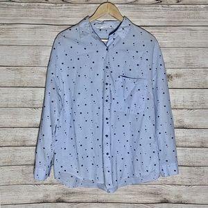 Zara Button-Down Blouse - Medium (Fits Large)